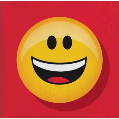 - Emoji Partisi Küçük Peçete 16 Adet
