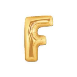 Parti Dünyası - F Harfi Altın Renk Folyo Balon 100 cm