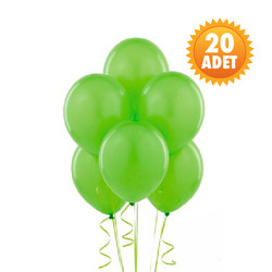 Parti Dünyası - Fıstık Yeşili 20 Lİ Latex Balon