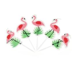 Parti Dünyası - Flamingo 5 Li Mum