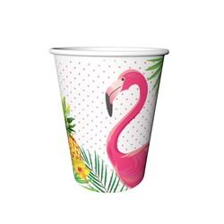 Parti Dünyası - Flamingo 8 li karton Bardak