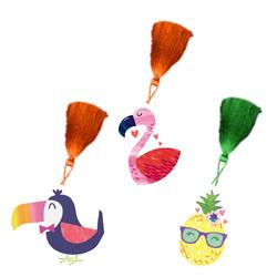 Parti Dünyası - Flamingo Ananas Kitap Ayracı 8 Adet