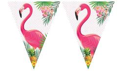 Parti Dünyası - Flamingo Bayrak Afiş 320 cm