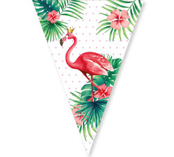 Parti Dünyası - Flamingo Bayrak Afiş