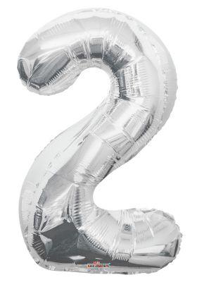 Folyo Balon 2 Rakamı Gümüş 100 cm