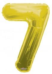 - Folyo Balon 7 Rakamı Gold//Altın Renk 100 cm