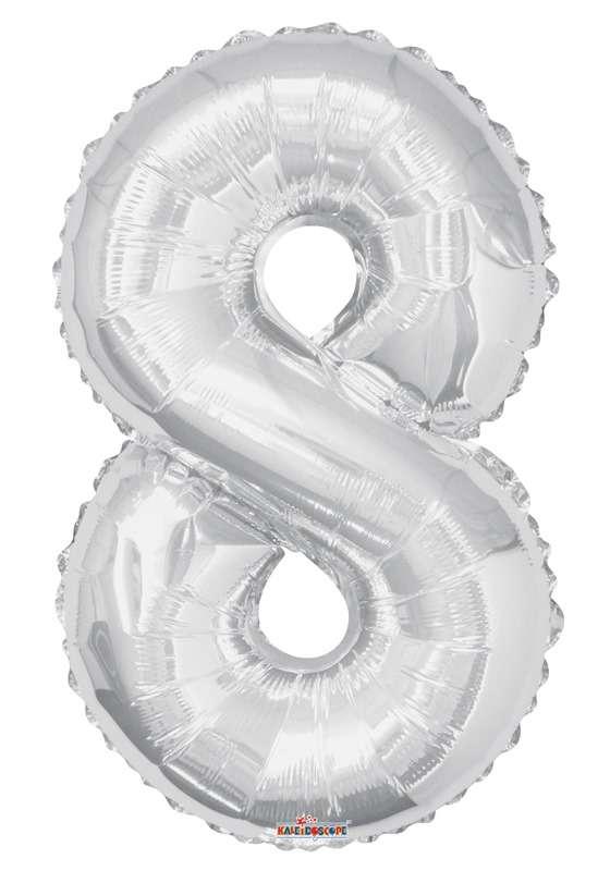 Folyo Balon 8 Rakamı Gümüş