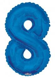 - Folyo Balon 8 Rakamı Mavi 100 cm