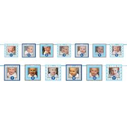 - Fotoğraf Asılabilen Mavi Pırıltılı Çerçeveli Afiş