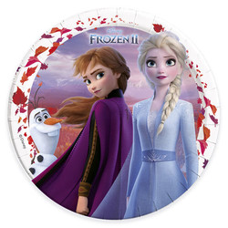 Parti Dünyası - Frozen Tabak 23 cm 8 Lİ Paket