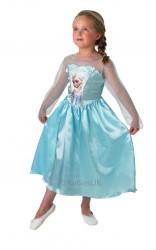 Parti - Elsa Kostümü -Frozen Karlar Prensesi L Beden / 7-8