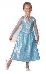 Parti Dünyası - Frozen Müzikli Lüx Elsa Kostümü L Beden 7-8 Yaş