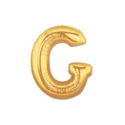 Parti Dünyası - G Harfi Altın Renk Folyo Balon 100 cm