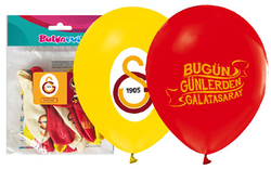 Parti Dünyası - Galatasaray Baskılı Latex Balon 12 Adet