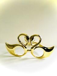 Parti Dünyası - Gold Kuğular Parti Gözlüğü