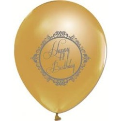 Parti Dünyası - Gold Renk Happy Bırthday10 Lu Latex Balon