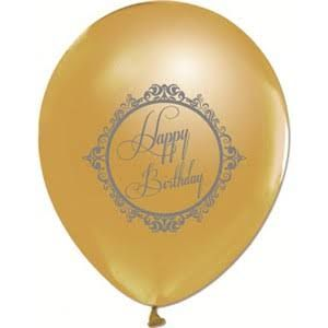- Gold Renk Happy Bırthday10 Lu Latex Balon
