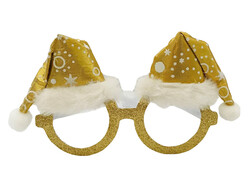 Parti Dünyası - Gold Şapkalı Şık Yılbaşı Gözlük