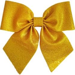 Parti Dünyası - Gold Simli Fiyonk Dekor Süs 23 x 20 cm