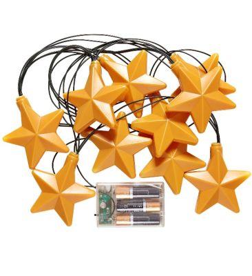 Parti - Gold Yıldızlar Işık Garlent 2.5 Metre Uzunluğunda/ Pilli