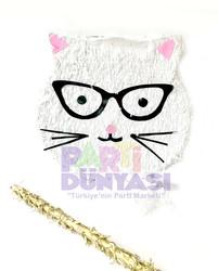 Parti Dünyası - Gözlüklü Kedi Şekilli Pinyata ve Sopası