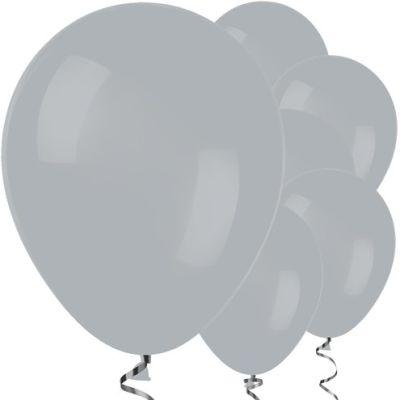 Gri Renk 10 Adet Balon
