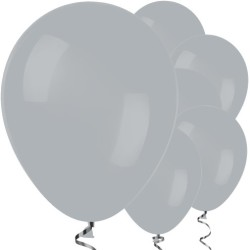 Parti Dünyası - Gri Renk 10 Adet Balon