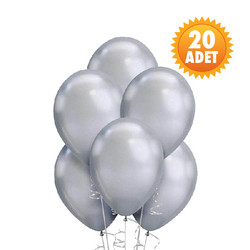 Parti - Gri Renk 20 Li Latex Balon