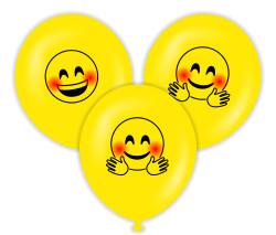 Parti - Gülen Yüz Temalı Baskılı Balon 6 Adet
