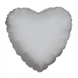 Parti Dünyası - Gümüş Kalp Folyo Balon 45 cm