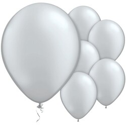 - Gümüş Metalik Balon 10 Adet