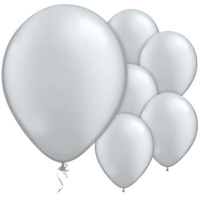 Gümüş Metalik Balon 10 Adet