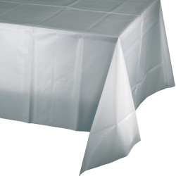 - Gümüş Renk Masa Örtüsü 274 cm X 137 cm ebadında