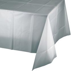 Parti Dünyası - Gümüş Renk Masa Örtüsü 274 cm X 137 cm ebadında