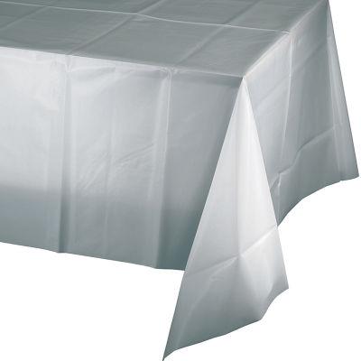Gümüş Renk Masa Örtüsü 274 cm X 137 cm ebadında