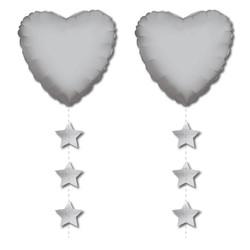 Parti - Gümüş Yıldız Folyo Balon Kuyruğu
