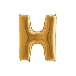 Parti Dünyası - H Harfi Altın Renk Folyo Balon 100 cm