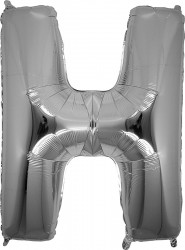 Parti Dünyası - H Harfi Gümüş Folyo Balon
