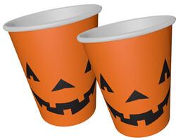 Parti - Halloween Balkabağı Bardak 8 Adet