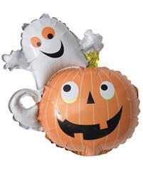 Parti Dünyası - Halloween Hayalet ve Balkabağı Folyo Balon 78 x 55cm