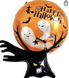 Parti Dünyası - Halloween Korkunç Ağaç Folyo Balon 96 x 80 cm