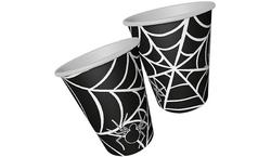 Parti Dünyası - Halloween Örümcek Siyah 8 li Bardak