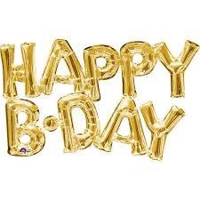 Parti Dünyası - Happy B.Day Harf Folyo Balon Altın Rengi