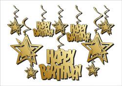Parti Dünyası - Happy Birthday 10 Lu Tavan Süsü