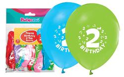 Parti Dünyası - Happy Birthday 2 YAŞ Baskılı Balon 16 lı