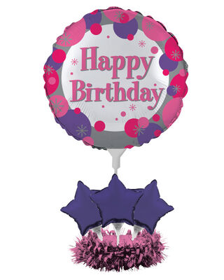 Happy Birthday Balon Kiti Masa Orta Süsü