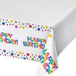 Parti - Happy Birthday Baskılı Masa Örtüsü 137x259cm