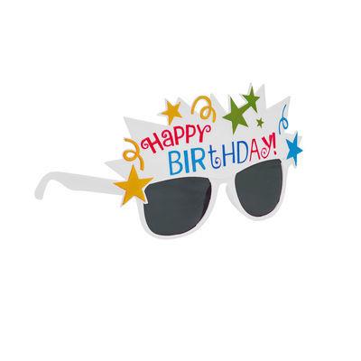 Happy Birthday Beyaz Parti Gözlüğü