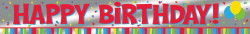 Parti Dünyası - Happy Birthday Folyo Afiş 183 cm uzunluğunda