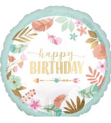 Parti Dünyası - Happy Birthday Folyo Balon 45 cm